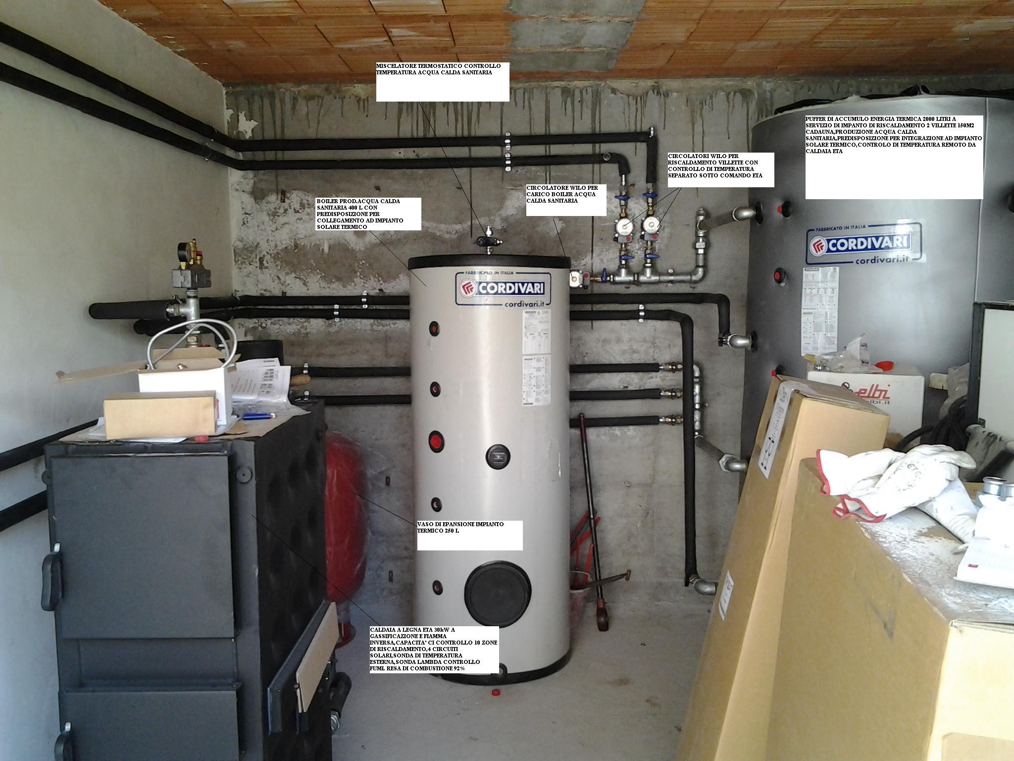 Temperatura Caldaia Impianto A Pavimento biomasse la spezia - coltella tecnica